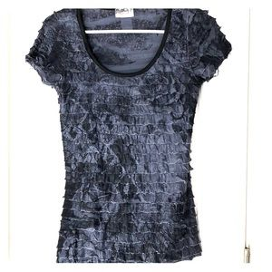 Black and gray stretchy top by Lavish